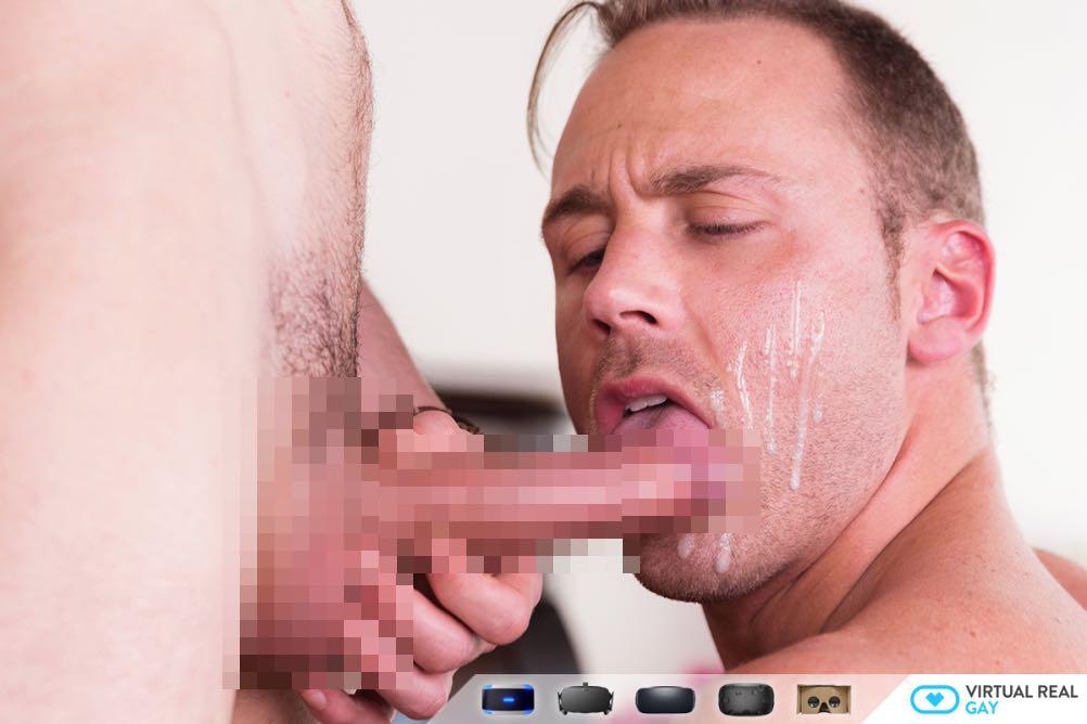 3Pの男たちのセックスを体験!3つの竿を体験できるVR動画